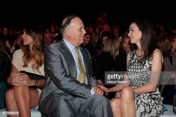 Carlos Falco Marquis of Grinon and Esther Dona are seen on the front row of the Rosa Clara Show during Barcelona Bridal Fashion Week 2017 on April 25...