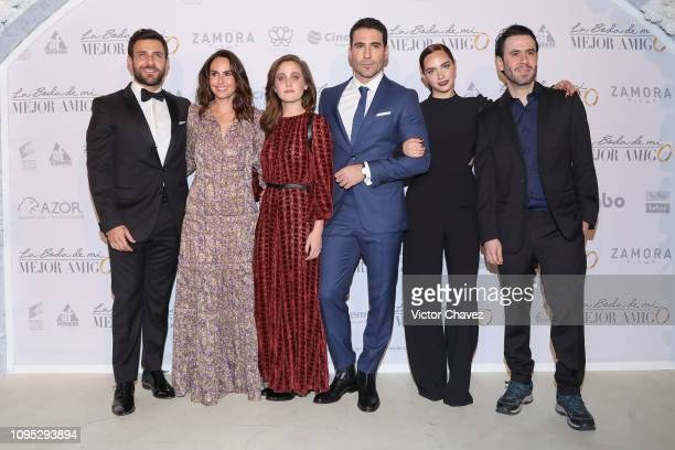 Carlos Ferro Ana Serradilla Natasha Dupeyron Miguel Angel Silvestre Minnie West and film director Celso Garcia attend 'La Boda de Mi Mejor Amigo' red...