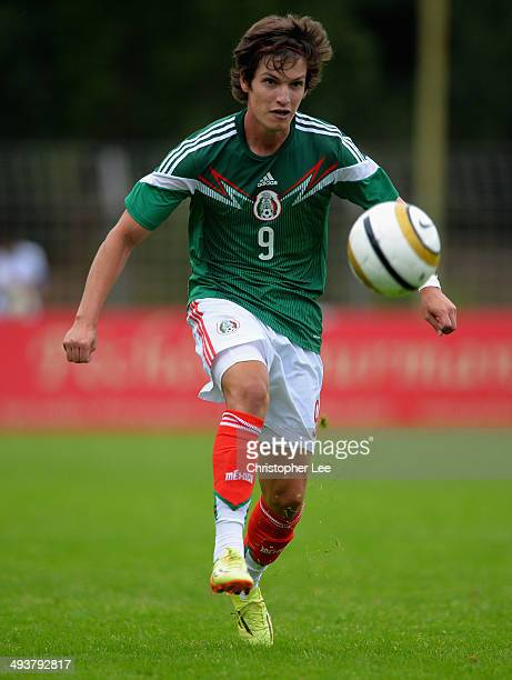 Carlos Fierro Guerrero of Mexico during the Toulon Tournament Group A match between France and Mexico at the Stade Louis Hon on May 25 2014 in...