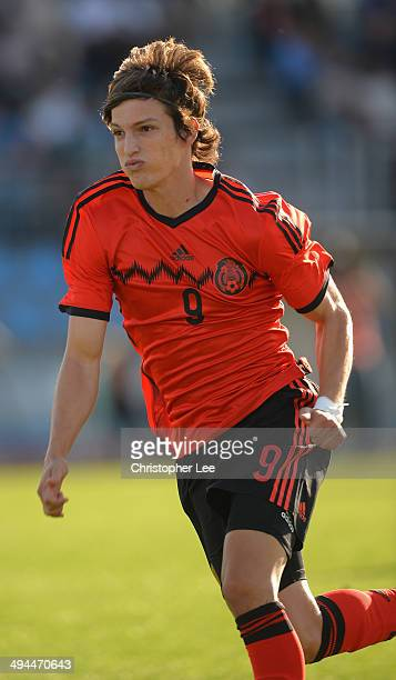 Carlos Fierro Guerrero of Mexico during the Toulon Tournament Group A match between China PR and Mexico at the Leo Legrange Stadium on May 29 2014 in...