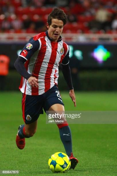 Carlos Fierro of Chivas drives the ball during the 4th round match between Chivas and Venados as part of the Torneo Clausura 2017 Copa MX at Chivas...