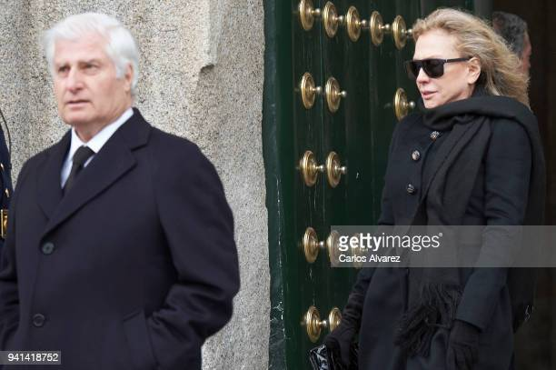Carlos FitzJames Stuart and Alicia Koplowitz attend a Mass in occasion of the 25th anniversary of death of Conde de Barcelona father of King Juan...