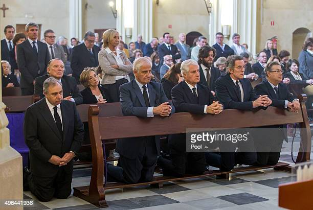 Carlos FitzJames Stuart his brothers Alfonso Alfonso Díez and former mayor Juan Ignacio Zoido Seville attend a mass at noon on the first anniversary...