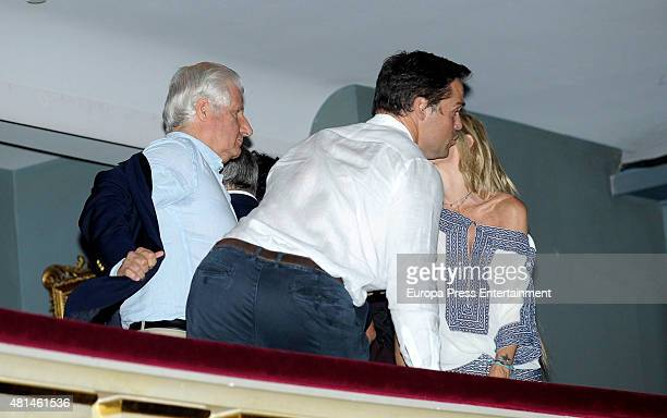 Carlos FitzJames Stuart Luis Alfonso de Borbon and Eugenia Martinez de Irujo attend Elton John concert at the Royal Theater on July 20 2015 in Madrid...