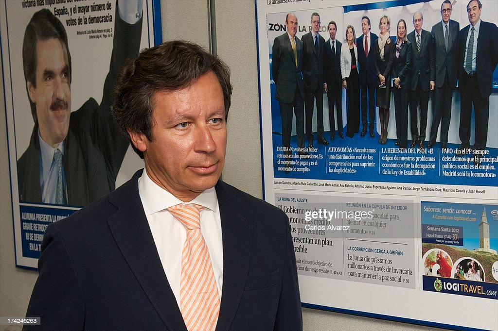 Carlos Floriano attends the 'La Razon' newspaper meeting on July 22, 2013 in Madrid, Spain. Maria Dolores de Cospedal has said that the prime minister Mariano Rajoy will go to parliament to talk about corruption cases involving the government.
