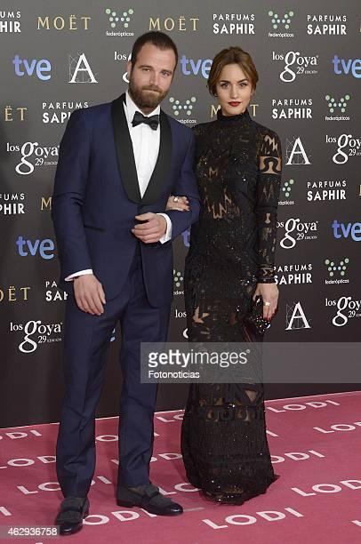 Carlos Francino and Megan Montaner attends Goya Cinema Awards 2015 at Centro de Congresos Principe Felipe on February 7 2015 in Madrid Spain