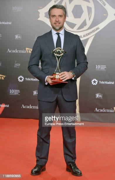 Carlos Franganillo attends 'Iris Academia de Television' awards at Nuevo Teatro Alcala on November 18 2019 in Madrid Spain