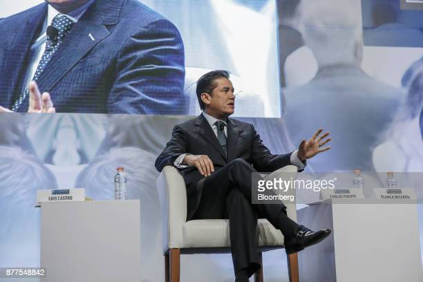 Carlos Fuente president of the Partido Verde speaks during the El Financiero Political Summit in Mexico City Mexico on Wednesday Nov 22 2017 Analysts...