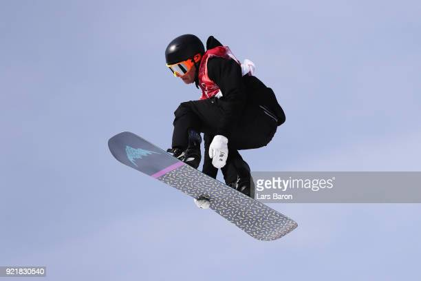 Carlos Garcia Knight of New Zealand competes during the Men's Big Air Qualification Heat 2 on day 12 of the PyeongChang 2018 Winter Olympic Games at...