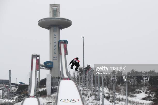 Carlos Garcia Knight of New Zealand competes during the Men's Big Air Final on day 15 of the PyeongChang 2018 Winter Olympic Games at Alpensia Ski...
