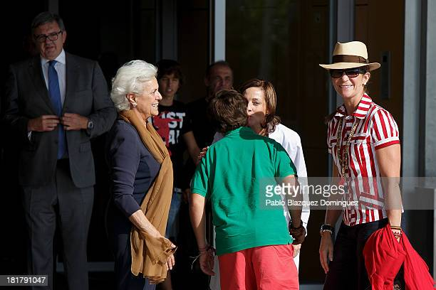 Carlos Garcia Revenga Princess Elena of Spain and her son Felipe Juan Froilan arrive at Quiron University hospital where Spain's King Juan Carlos is...
