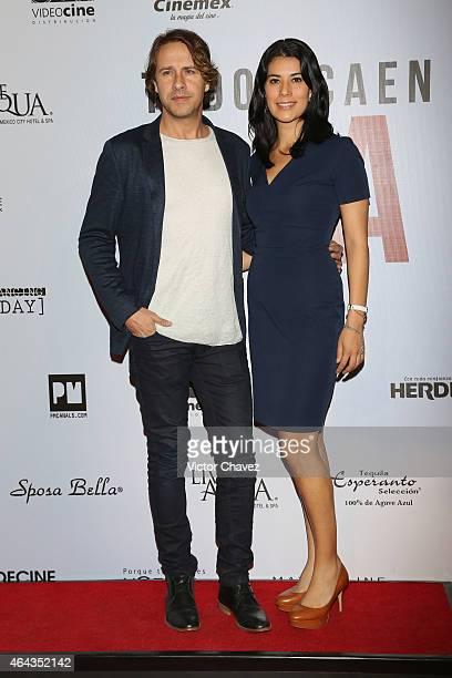Carlos Gascon and Lorena Marin attend A La Mala Mexico City premiere at Cinepolis Antara Polanco on February 24 2015 in Mexico City Mexico