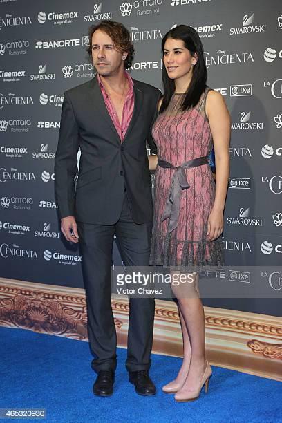 Carlos Gascon and Lorena Marin attend the Cinderella Mexico City premiere at Antara Polanco on March 5 2015 in Mexico City Mexico