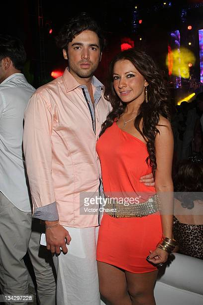 Carlos Gascon and Olga Hernandez attends the Cancun Moda Nextel 2011 cocktail party at the Le Blanc Spa Resort on November 26 2011 in Cancun Mexico