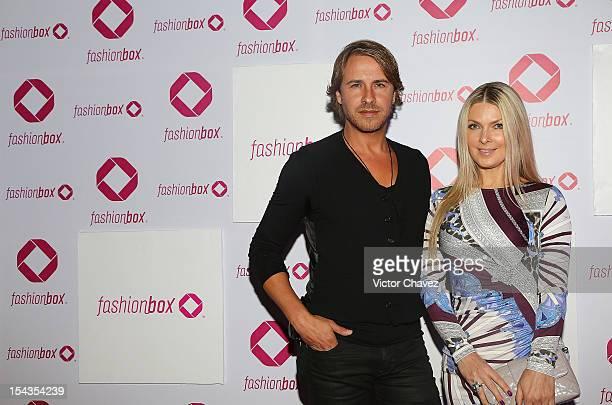 Carlos Gascon and Tatiana Bulgakova attend the launch of Fashionbox at MoonBar Hotel Camino Real Polanco on October 17 2012 in Mexico City Mexico