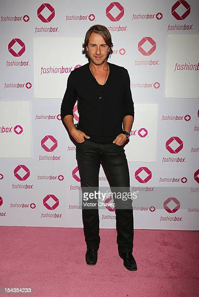 Carlos Gascon attends the launch of Fashionbox at MoonBar Hotel Camino Real Polanco on October 17 2012 in Mexico City Mexico