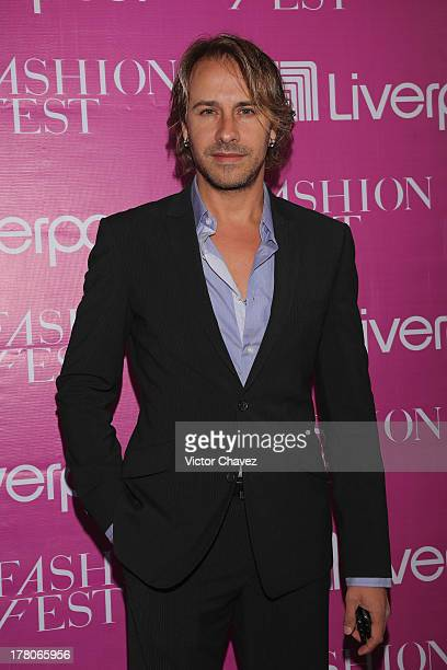 Carlos Gascon attends the Liverpool Fashion Fest Autumn/Winter 2013 at Club de Banqueros on August 22 2013 in Mexico City Mexico