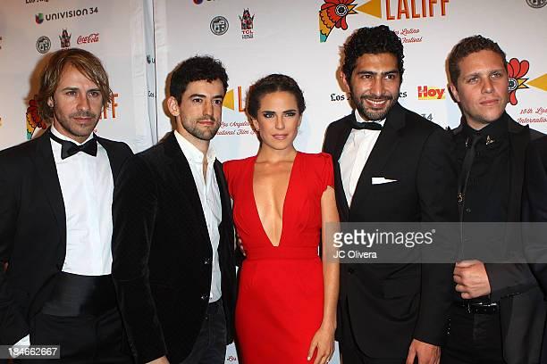 Carlos Gascon Luis Gerardo Mendez Karla Souza Ianis Guerrero and writer/director Gary Alazraki of the film 'Nosotros Los Nobles' attend The 2013 Los...