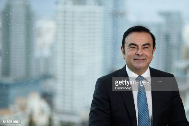 Carlos Ghosn chairman of Nissan Motor Co poses for a photograph in Yokohama Japan on Thursday Feb 23 2017 Ghosn handed over the daytoday running of...