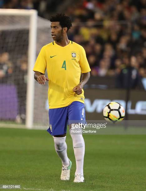 Carlos Gilberto Silva of Brazil during the Brazil Global Tour match between Brazil and Argentina at Melbourne Cricket Ground on June 9 2017 in...