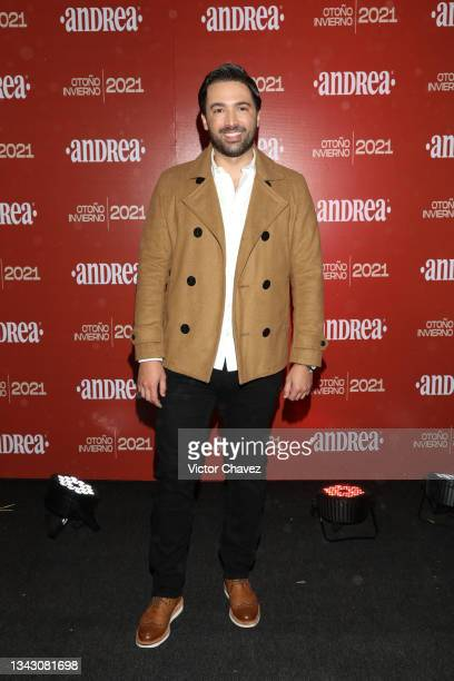 Carlos Girón attends the presentation of the Fall/Winter collection by Andrea at TV Azteca Ajusco on September 26, 2021 in Mexico City, Mexico.