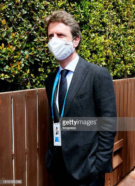 Carlos Godo attends to the ATP Barcelona Open Banc Sabadell 2021 at Real Club De Tenis Barcelona on April 25, 2021 in Barcelona, Spain.