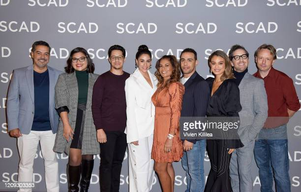 Carlos Gomez , Belissa Escobedo, David Del Rio, Michelle Veintimilla, Lisa Vidal, Victor Rasuk, Nathalie Kelley and Dan Bucatinsky attend the SCAD...