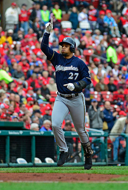 Carlos Gomez of the Milwaukee Brewers