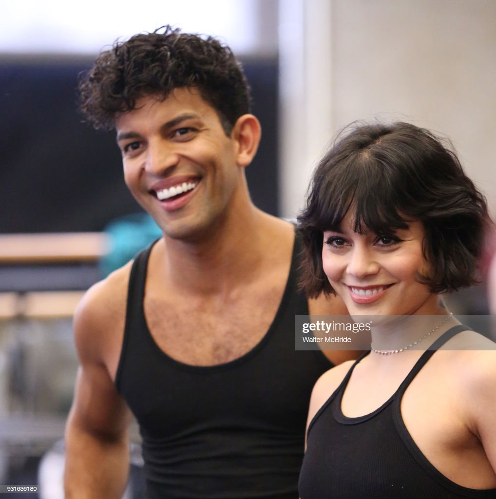 Carlos Gonzalez and Vanessa Hudgens with cast during the Broadway Center Stage Rehearsal for 'In the Heights' on March 13, 2018 at Baryshnikov Arts Center in New York City.