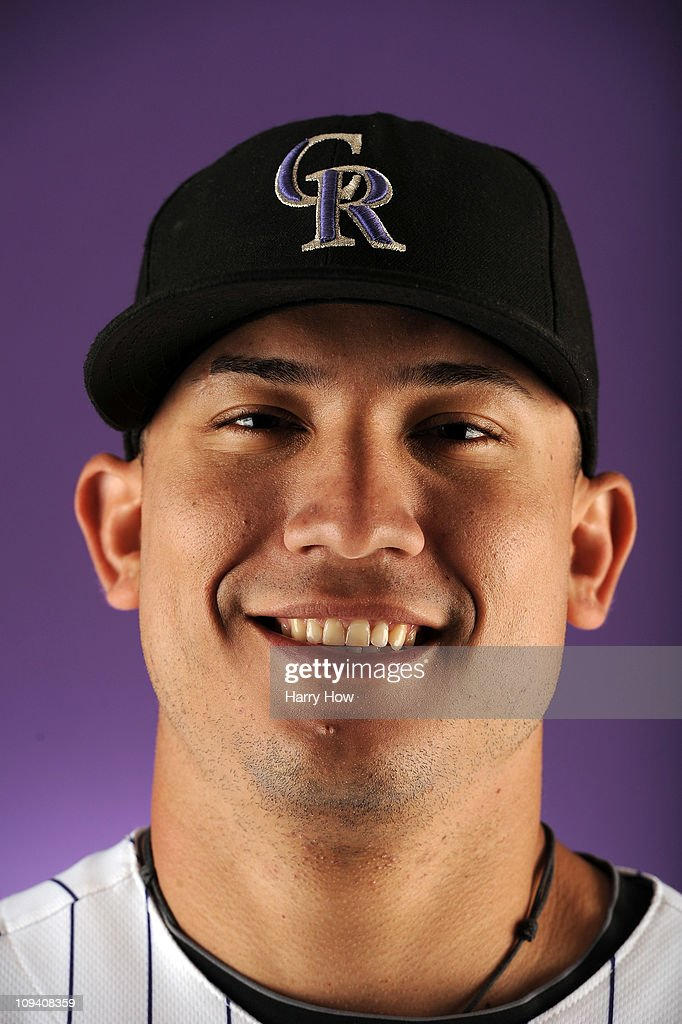Carlos Gonzalez #5 of the Colorado Rockies poses for a portrait during photo day at the Salt River Fields at Talking Stick on February 24, 2011 in Scottsdale, Arizona.