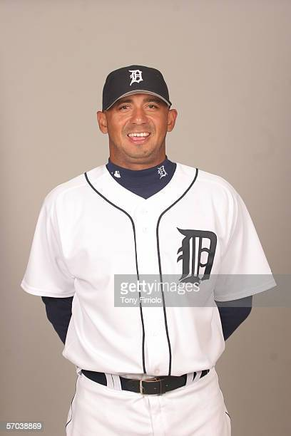 Carlos Guillen of the Detroit Tigers during photo day at Marchant Stadium on February 26 2006 in Lakeland Florida