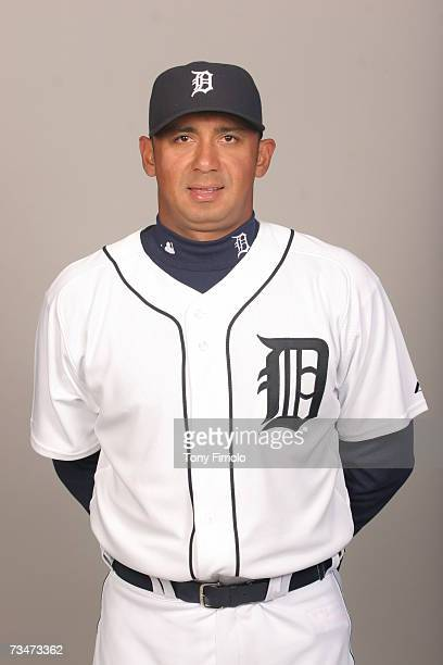 Carlos Guillen of the Detroit Tigers poses during photo day at Marchant Stadium on February 24 2007 in Lakeland Florida