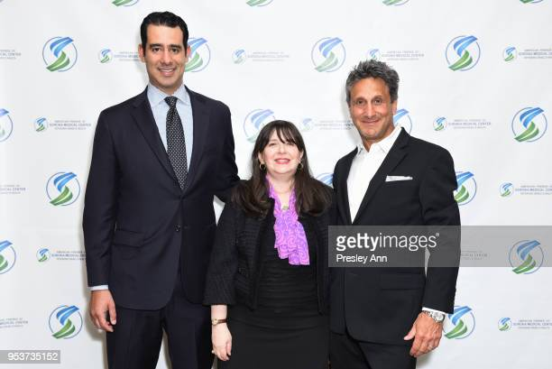 Carlos Gutierrez Jr Eliza de Sola Mendes and Marc Bennett attend American Friends Of Soroka 6th Annual Gala Benefit Dinner on May 1 2018 in New York...