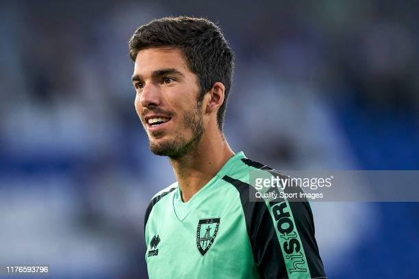 Carlos Gutierrez of Deportivo de La Coruna looks on prior to the La Liga Smartbank match between Deportivo de La Coruna and CD Numancia at Abanca...