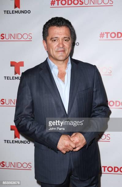 Carlos Hermosillo onstage during TODOS UNIDOS Telemundo's Primetime Special from Cisneros Studio on September 24 2017 in Miami Florida