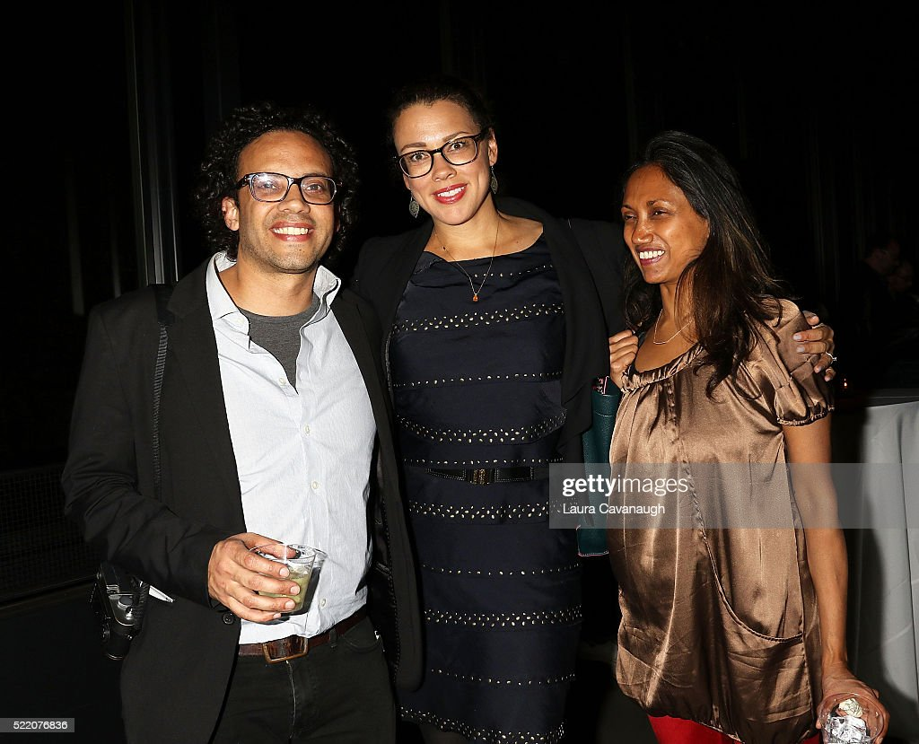 Carlos Javier Ortiz, Tina Sacks and Elizabeth Chakkappan attend Shorts Filmmakers Party - 2016 Tribeca Film Festival at Eventi Hotel on April 17, 2016 in New York City.