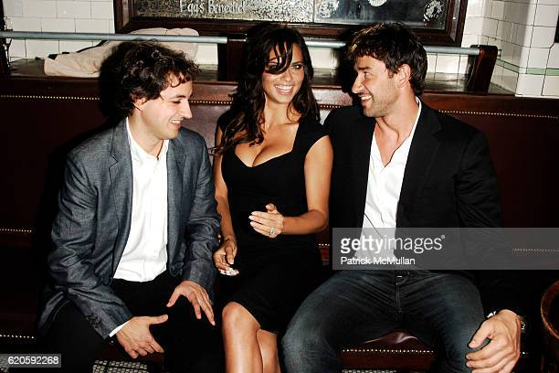 Carlos Jereissati Filho Adriana Lima and Marko Jaric attend Private Dinner hosted by CARLOS JEREISSATI CEO of IGUATEMI at Pastis on September 6 2008...