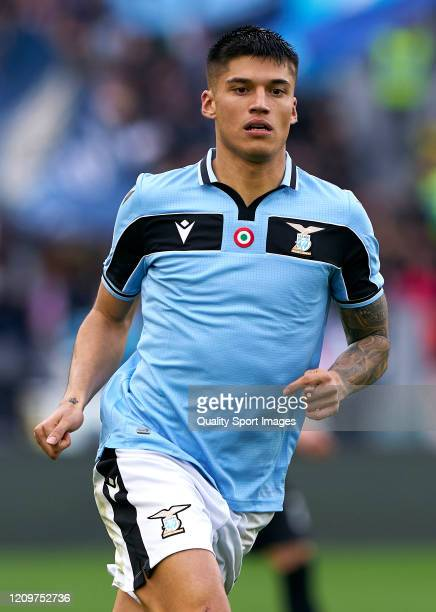 Carlos Joaquin Correa of Lazio looks on during the Serie A match between SS Lazio and Bologna FC at Stadio Olimpico on February 29 2020 in Rome Italy