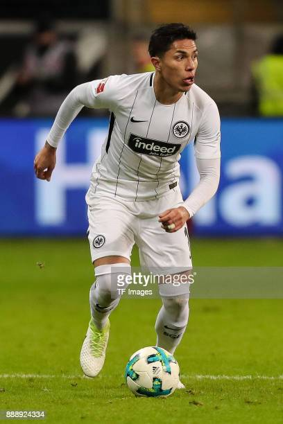 Carlos Joel Salcedo Hernandez of Frankfurt controls the ball during the Bundesliga match between Eintracht Frankfurt and FC Bayern Muenchen at...