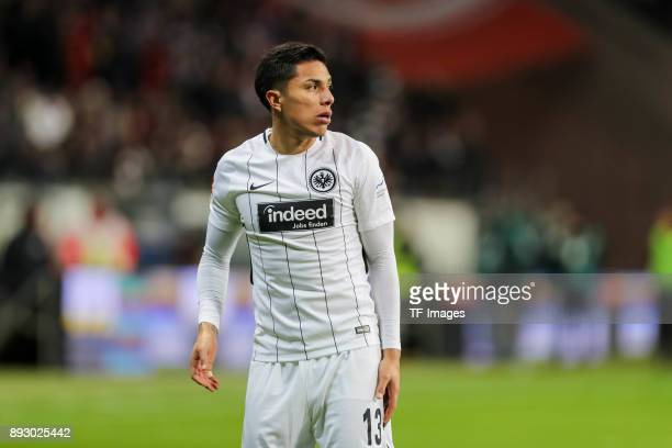 Carlos Joel Salcedo Hernandez of Frankfurt looks on during the Bundesliga match between Eintracht Frankfurt and FC Bayern Muenchen at...