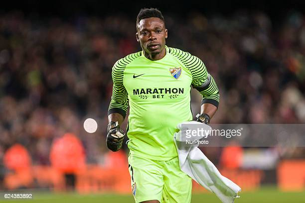 Carlos Kameni during the match between FC Barcelona vs Malaga CF for the round 12 of the Liga Santander played at Camp Nou Stadium on 19th November...