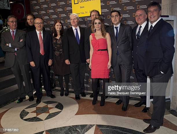 Carlos Kinder Simon Pedro Barcelo John Fahey Carme Chaparro and Antonio Cursach attend the 'Flagship Store National Geographic' Opening on November...