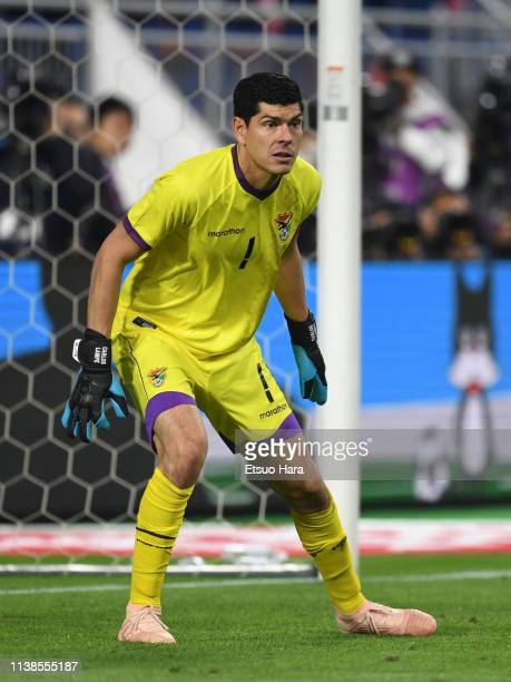 Carlos Lampe of Bolivia in action during the international friendly match between Japan and Bolivia at Noevir Stadium Kobe on March 26 2019 in Kobe...