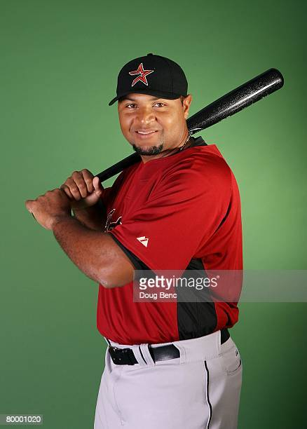 Carlos Lee of the Houston Astros poses during Spring Training Photo Day at Osceola County Stadium on February 25 2008 in Kissimmee Florida