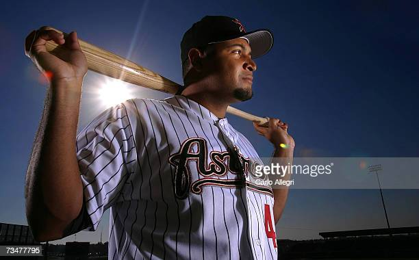 Carlos Lee of the Houston Astros poses for a portrait during the Houston Astros photo day on February 28 2007 at Osceola County Stadium in Kissimmee...