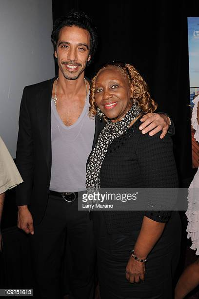 Carlos Leon and Avery Somers attend the Miami screening of Immigration Tango at AMC Sunset Place on February 17 2011 in Miami Florida