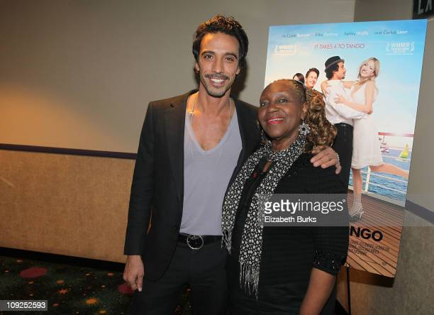 Carlos Leon and Avery Sommers attend the Miami screening of Immigration Tango at AMC Sunset Place on February 17 2011 in Miami Florida