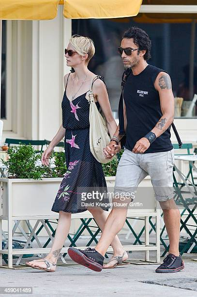 Carlos Leon and Betina Holte are seen in the East Village on July 21 2013 in New York City