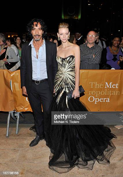Carlos Leon and Betina Holte attend the 2012 Metropolitan Opera season opening night performance of L'Elisir D'Amore at The Metropolitan Opera House...