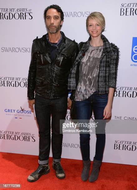Carlos Leon and Betina Holte attend the Cinema Society with Swarovski Grey Goose premiere of eOne Entertainment's Scatter My Ashes at Bergdorf's at...